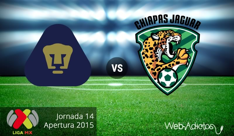 pumas vs jaguares de chiapas apertura 2015 Pumas vs Jaguares, Jornada 14 del Apertura 2015