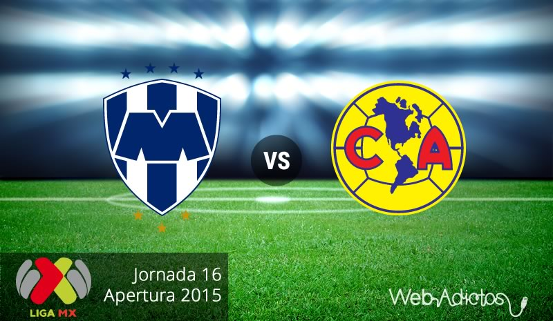Monterrey vs América, Fecha 16 del Apertura 2015 - monterrey-vs-america-apertura-2015