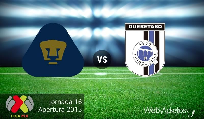 Pumas vs Querétaro en el Apertura 2015 | Jornada 16 - pumas-vs-queretaro-apertura-2015