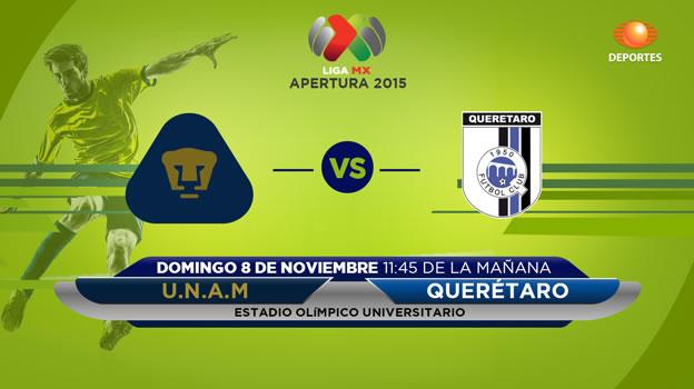 Pumas vs Querétaro en el Apertura 2015 | Jornada 16 - pumas-vs-queretaro-en-vivo-por-televisa-apertura-2015