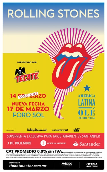 Rolling Stones anunció nueva fecha en México - rolling-stones-en-mexico-nueva-fecha