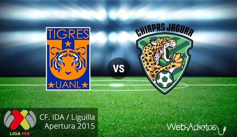 Tigres vs Jaguares, Liguilla del Apertura 2015 | Partido de ida - tigres-vs-jaguares-de-chiapas-liguilla-apertura-2015-ida