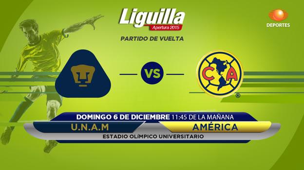 América vs Pumas, Semifinal del Apertura 2015   Partido de ida - america-vs-pumas-en-vivo-semifinal-apertura-2015
