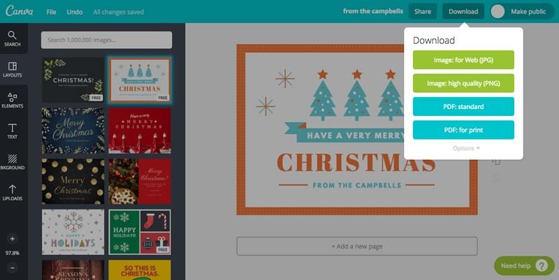 Crea tarjetas de navidad increíbles con las plantillas de Canva - crear-tarjetas-de-navidad-canva
