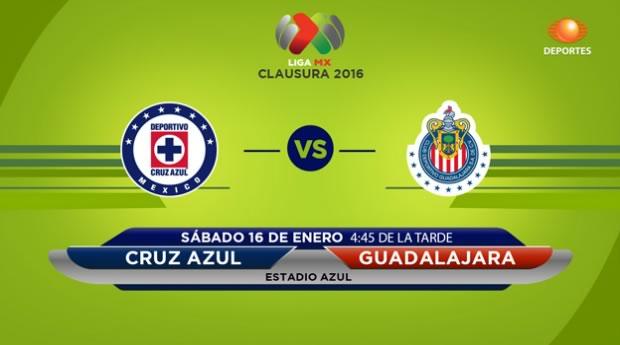 Cruz Azul vs Chivas, Jornada 2 del Clausura 2016 - cruz-azul-vs-chivas-en-vivo-por-televisa-deportes-clausura-2016