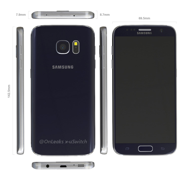 Galaxy S7: se filtran sus renders - galaxy-s7-leak-dimensions