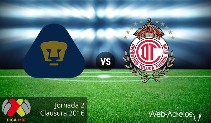 Pumas vs Toluca, Jornada 2 del Clausura 2016 - pumas-vs-toluca-clausura-2016