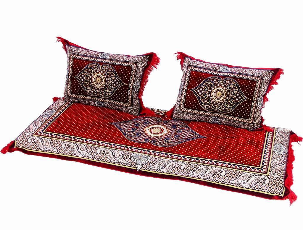 set of 3 pcs 1x mattress 2x cushions orient afghan nomad pillow ru
