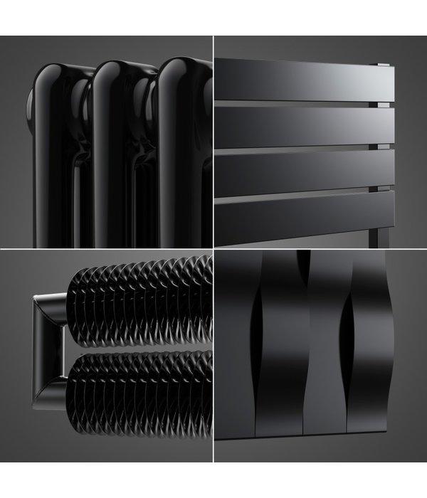 radiateur noir matt