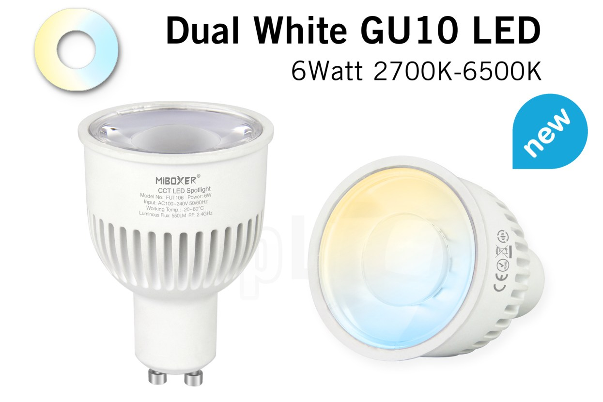Miboxer 6W Dual White 220V GU10 LED Spot