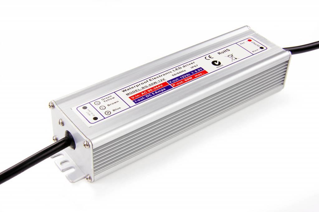 Waterdichte Schakelende Voeding IP67 DC 24 Volt 60 Watt 2,5 Ampère