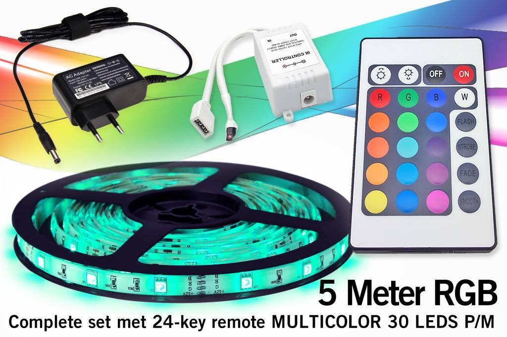 ??? SUPERDEAL! ??? Complete Set met RGB LED-strip en IR 24 of 44 toetsen afstand