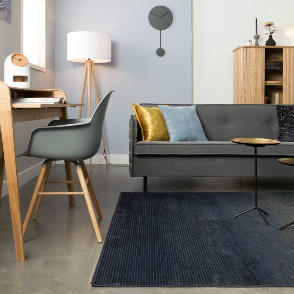 zuiver 240x170cm textile tapis bleu obi