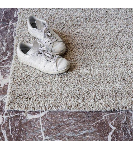 ferm living boucle tapis tapis textile blanc casse 200x300cm