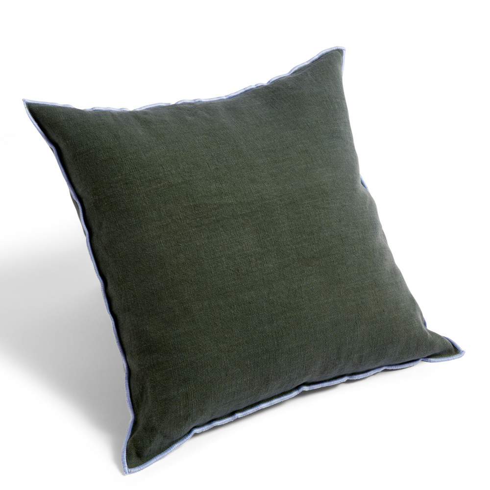 hay throw pillow outline green textile 50x50cm
