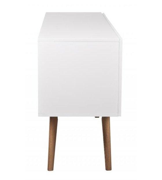 zuiver meuble tv haut sur bois en bois blanc 160x40x71 5cm