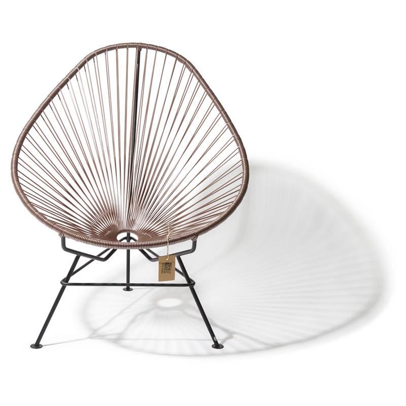 fauteuil acapulco couleur taupe metallique