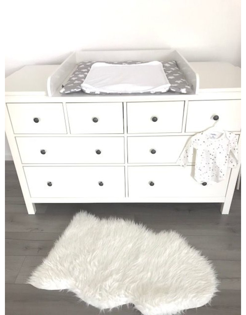 Changing Top Round With Extra Wide Cover For Ikea Hemnes Dresser 160 Cm In White