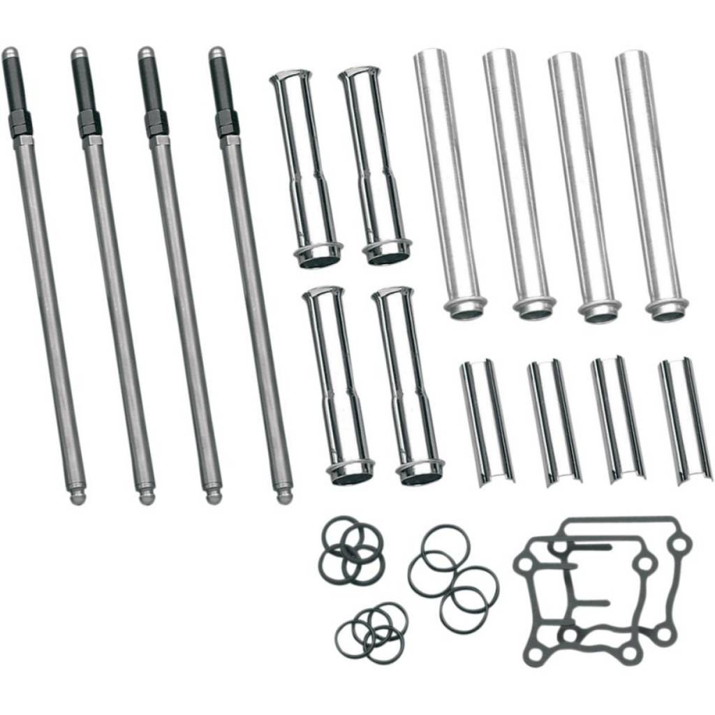 S Amp S Harley Engine Adjustable Pushrod Kit With Covers For