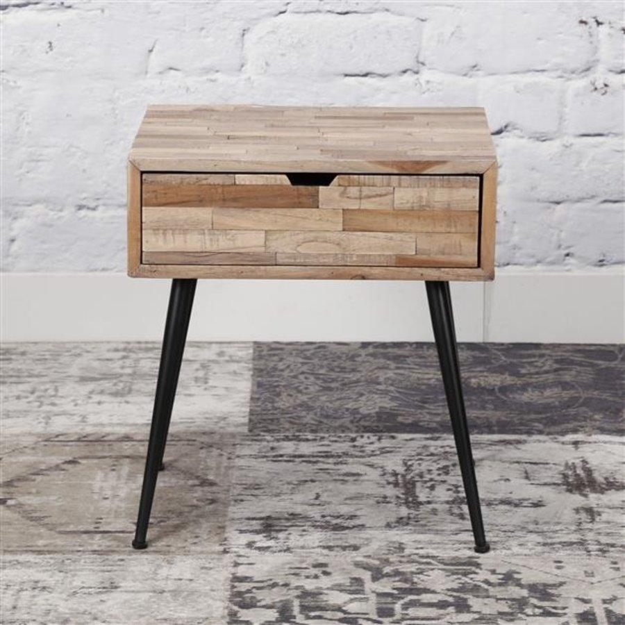table de nuit teca bois de teck massif