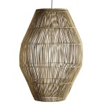 Couleur Locale Hanging Lamp Shade In Rattan Hangdome Xxl Couleur Locale