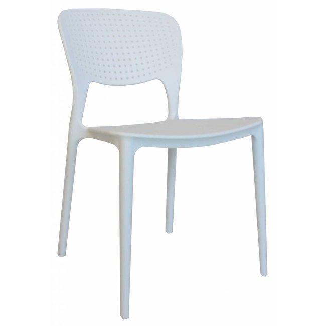 dimehouse nino chaise de jardin blanc moderne plastique