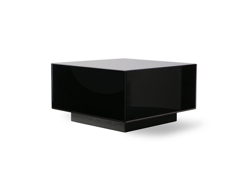 mirror block coffee table black large