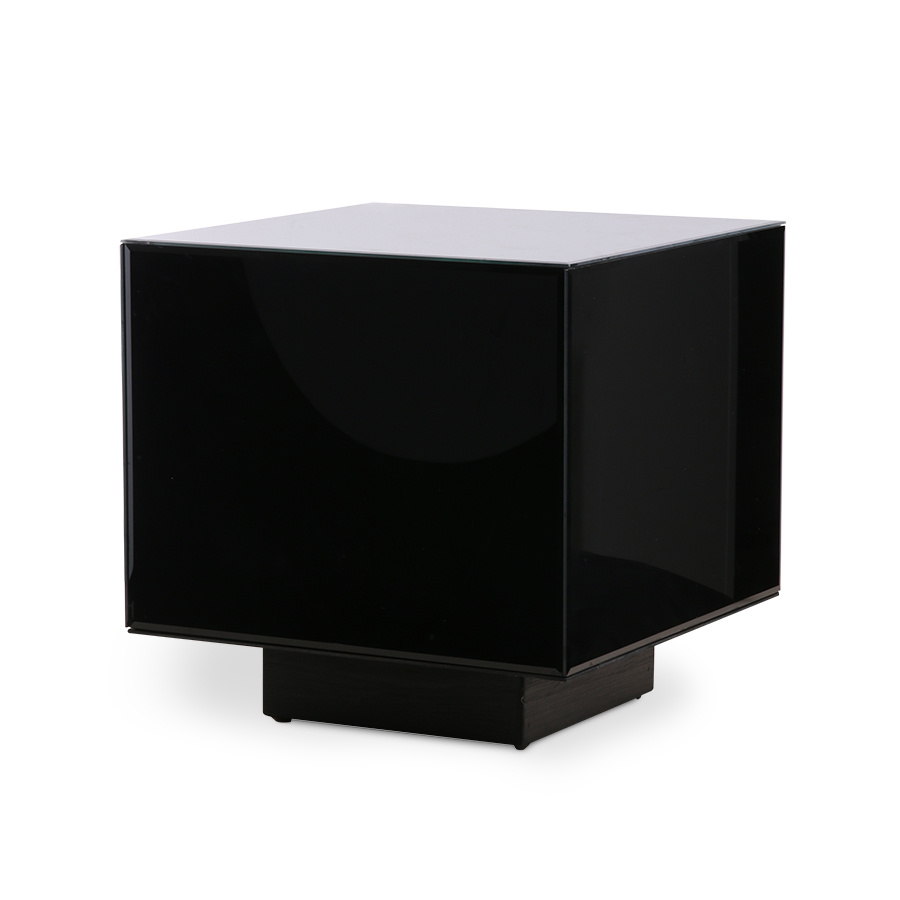 mirror block coffee table black medium