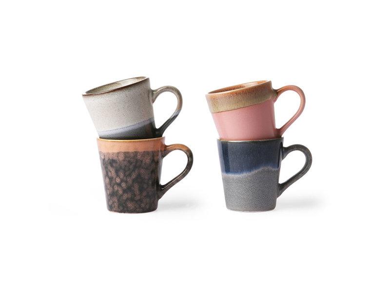 ceramic 70 s espresso mug set