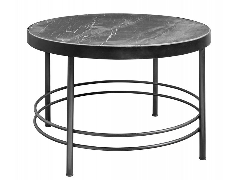 midnight coffee table round black