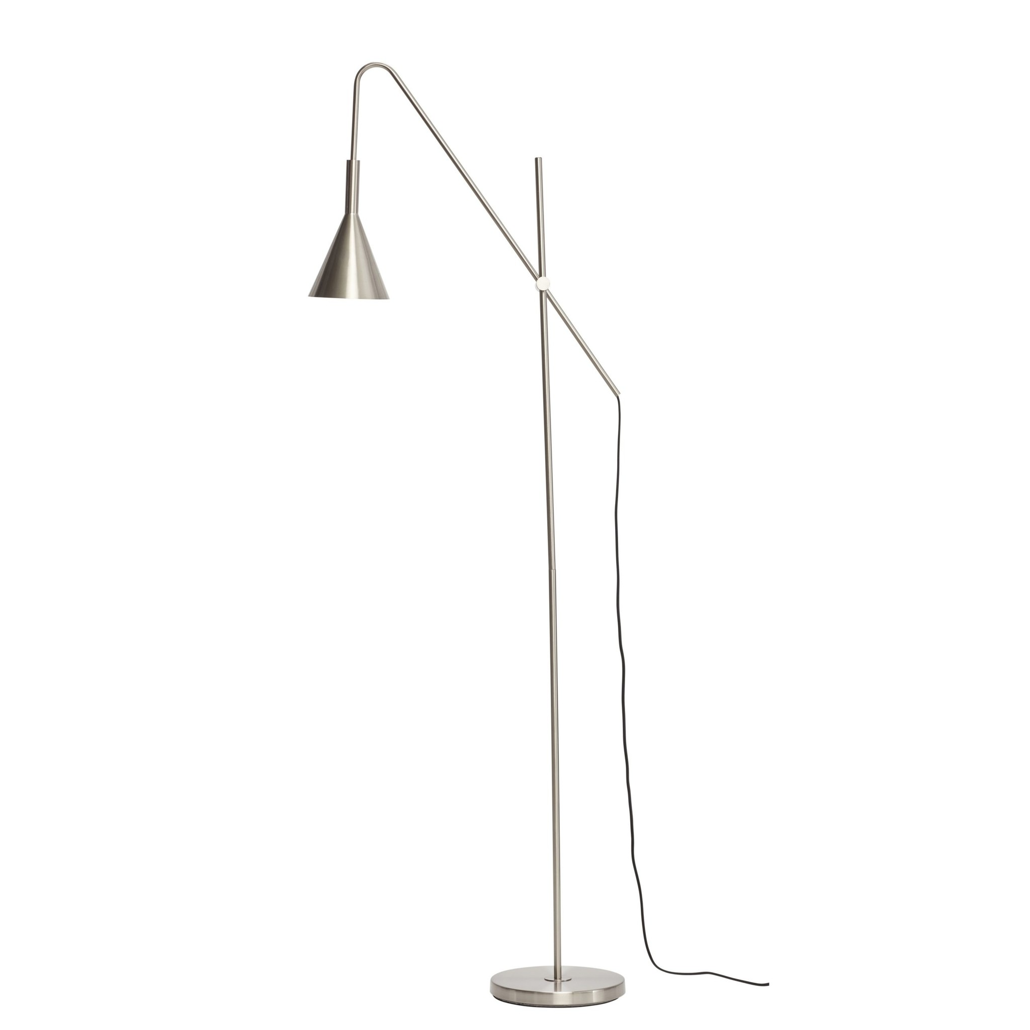 Hubsch Floor Lamp Metal Silver Living And Co