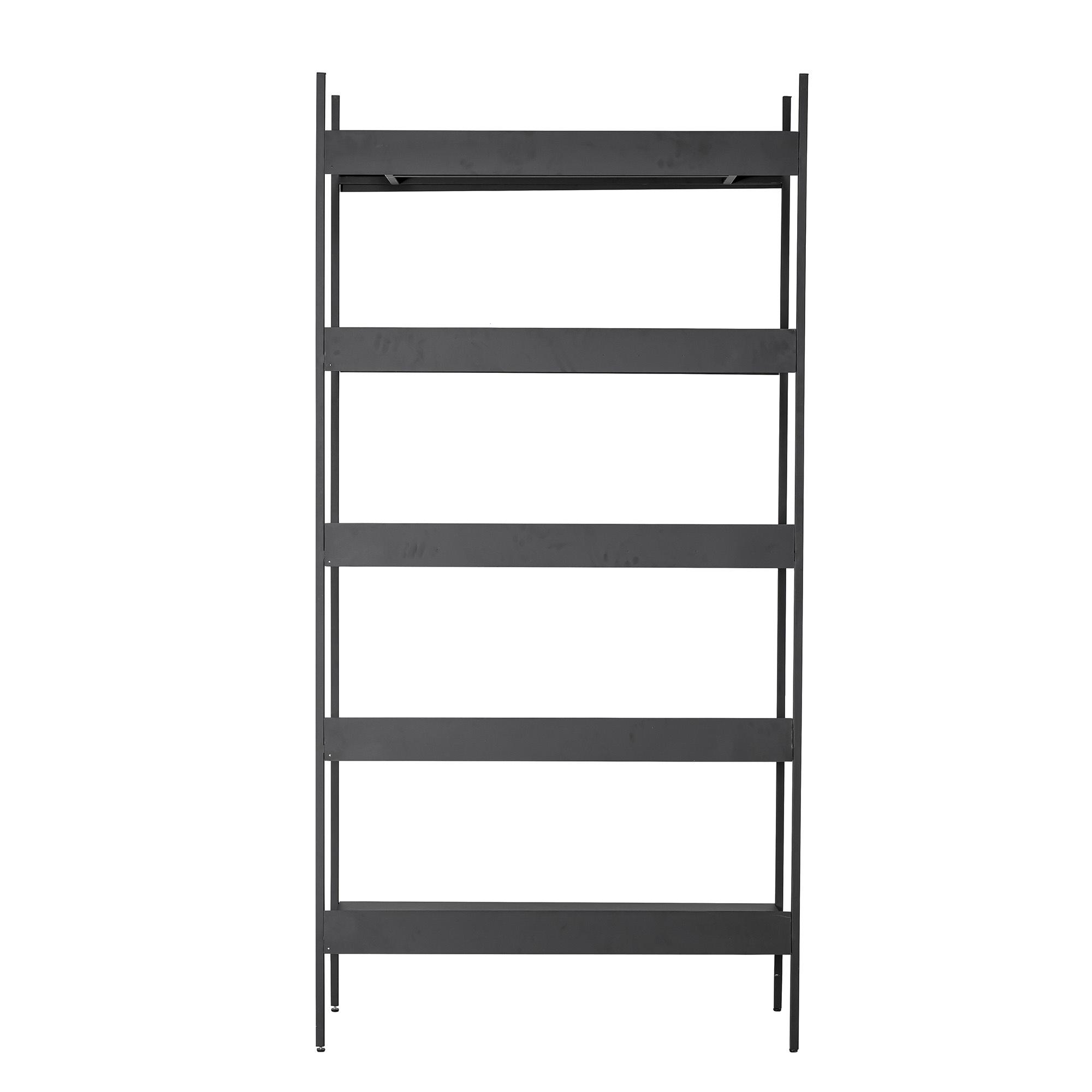 armoire lot avec etageres metal noir