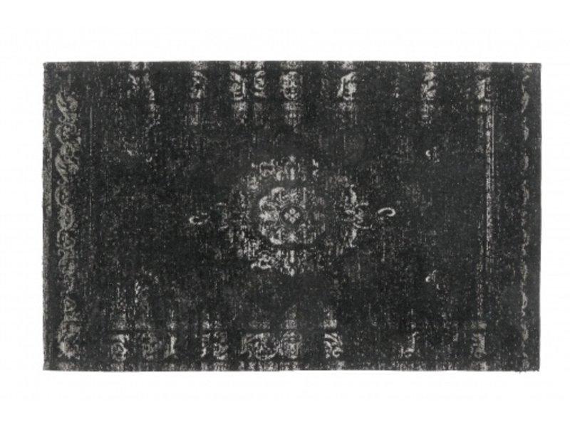 grand tapis tisse gris fonce noir