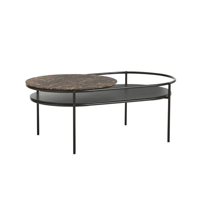woud verde coffee table brown marble top