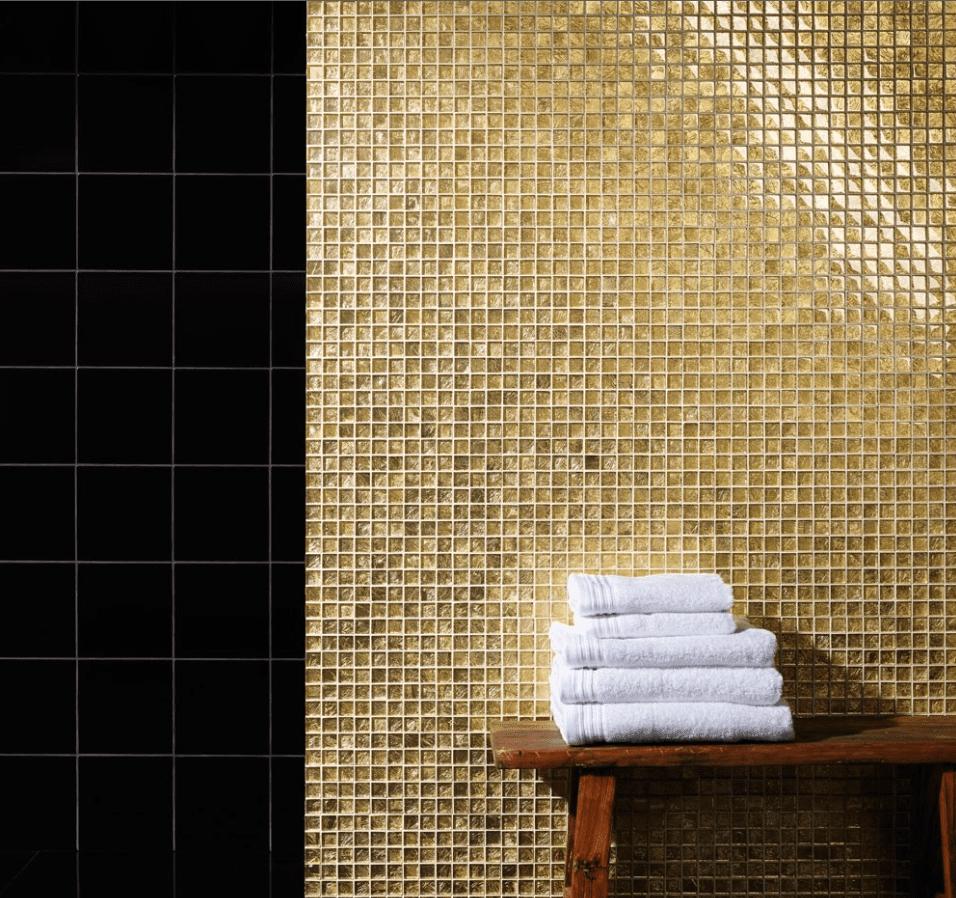 luxury tiles stone gold glass mosaic tile