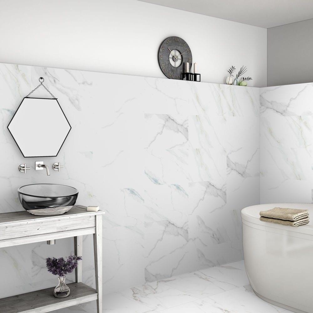 luxury tiles calacatta marble effect 60x60 matt tiles