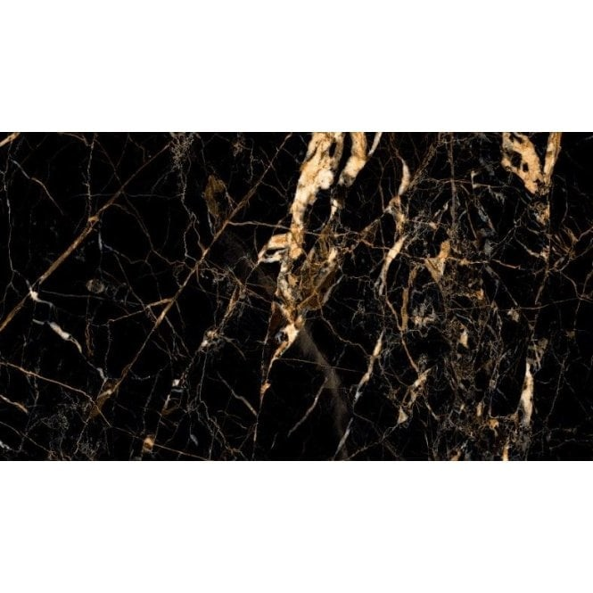 luxury tiles gold creama jet black marble effect 60cm x 120cm floor and wall tile