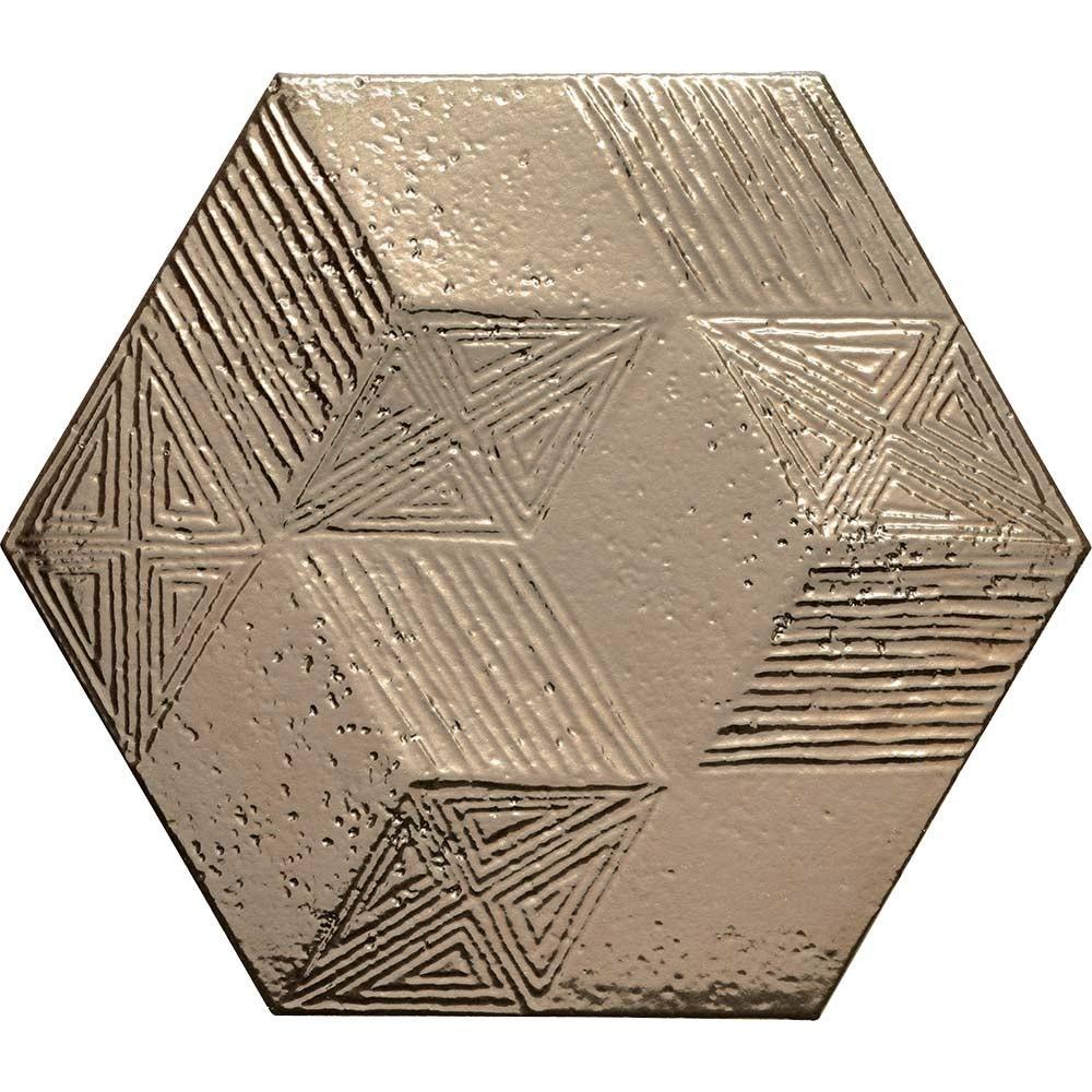 allure gold hexagon gloss wall tiles