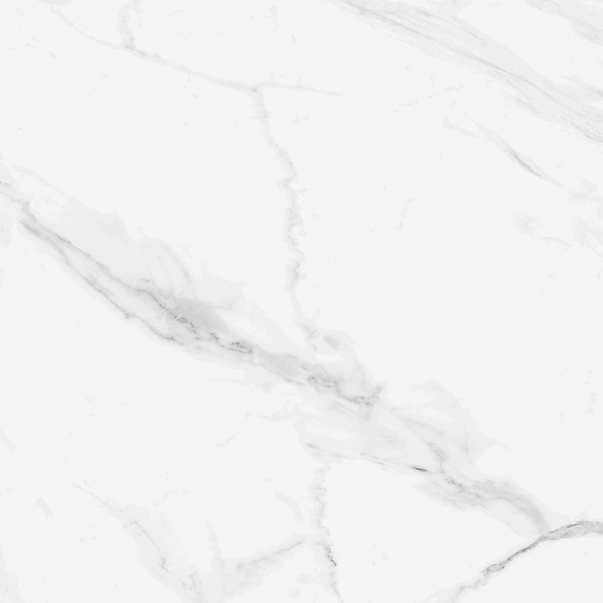 blanco carrara marble effect gloss ceramic floor 450 x 450 tile