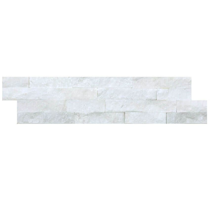 luxury tiles white splitface quartzite tile cladding 10x36cm
