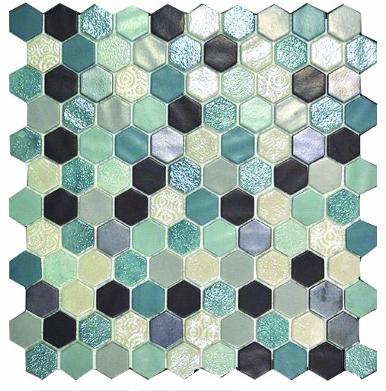 luxury tiles avatar hex aqua glass mosaic tile