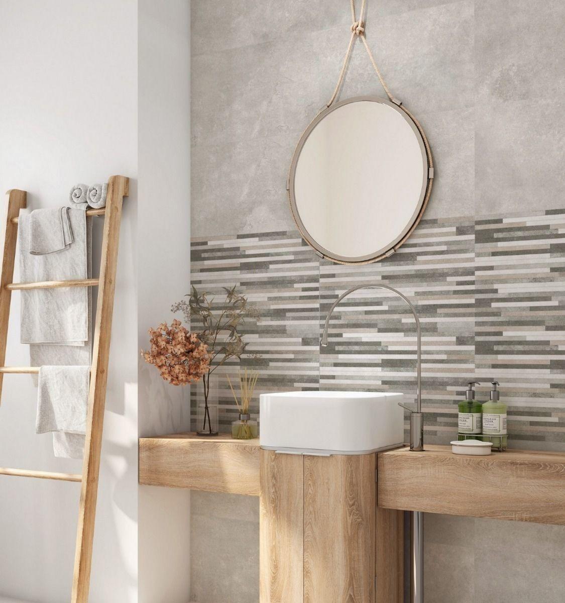 luxury tiles charcoal grey split face effect tile 330x550mm