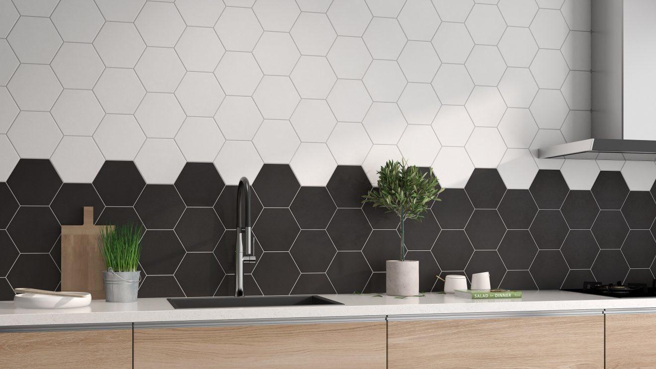 luxury tiles chelsea white hexagon porcelain wall and floor tile