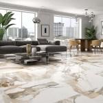 Piero Gold Creama Marble Effect Porcelain Tile Luxury Tiles