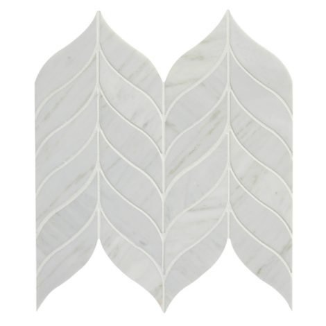 luxury tiles leaf marble mosaic honed 32 8cm x 38cm tile