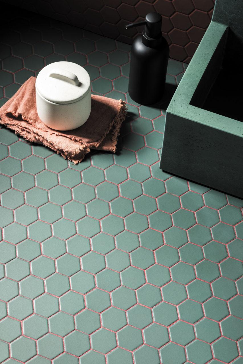 luxury tiles green matt hexagon mosaic tile