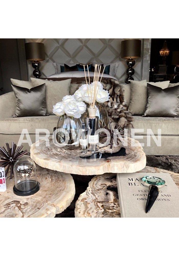 coffee table petrified wood set of 3