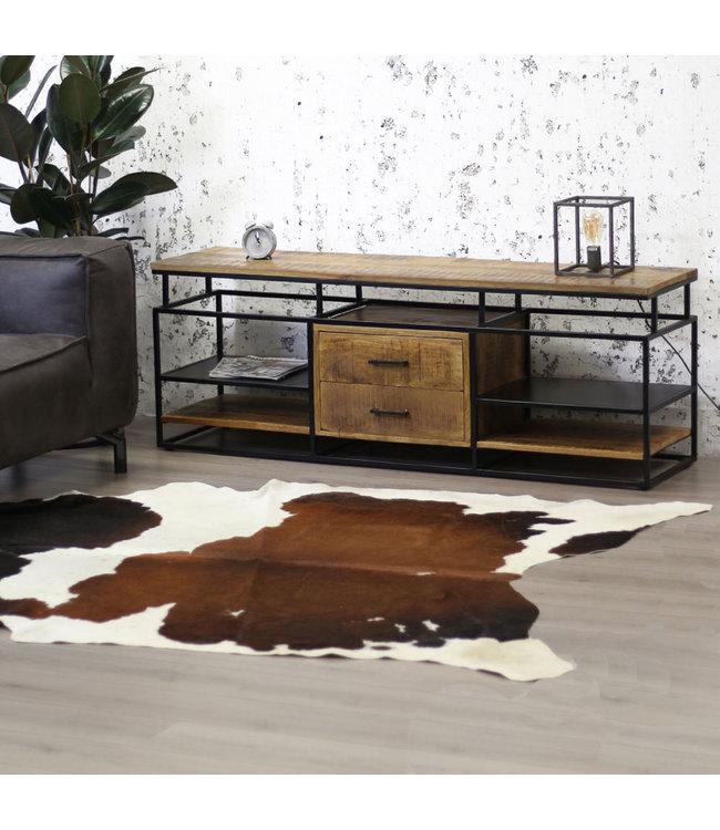 meuble tv bois massif industriel pasadena