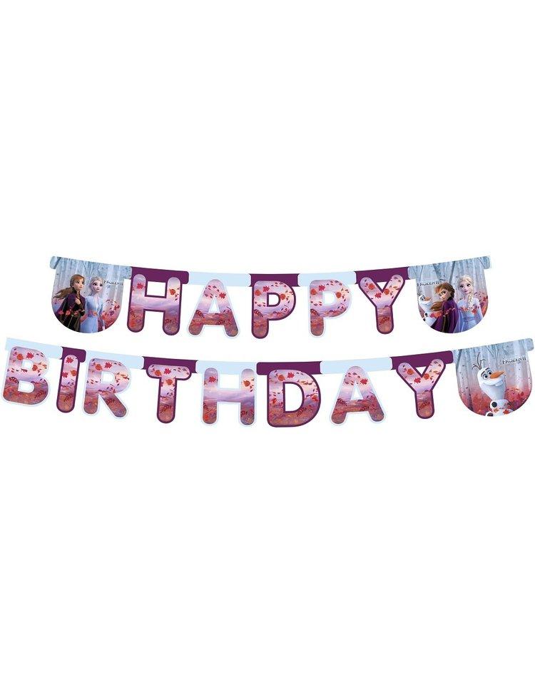 Happy Birthday Banner Frozen 2 230 Cm Magicoo
