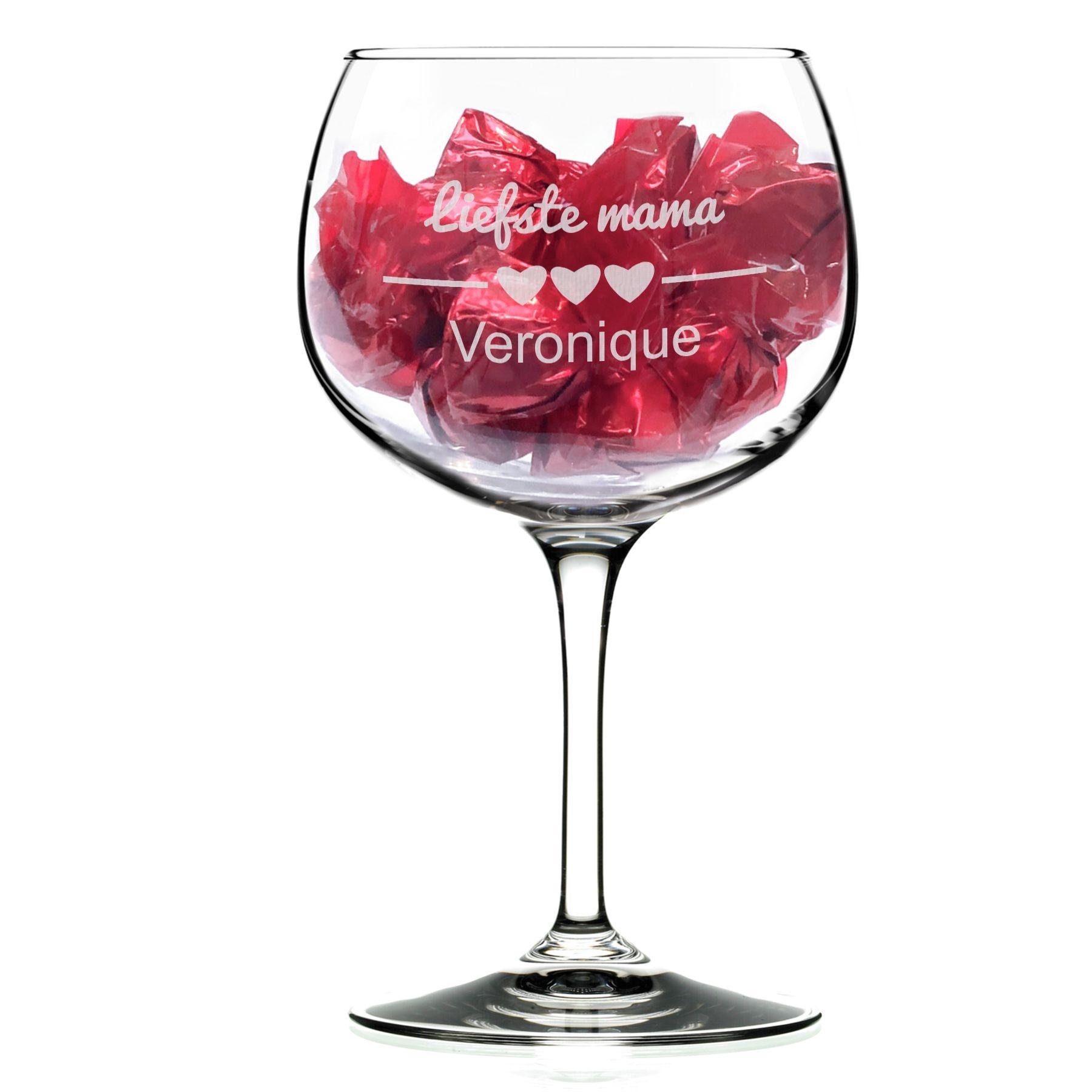 verre a cocktail personnalise avec pralines